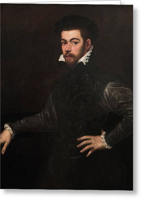 Catalunya Paintings Greeting Cards - Portrait of a Gentleman Greeting Card by Tintoretto