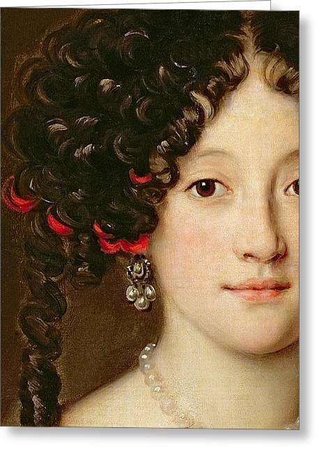Femme Greeting Cards - Portrait of a Woman Greeting Card by Jacob Ferdinand Voet