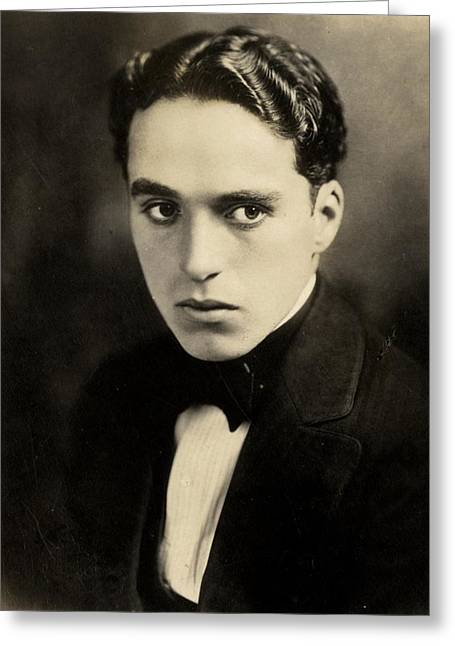 Comedian Greeting Cards - Portrait of Charlie Chaplin Greeting Card by American Photographer