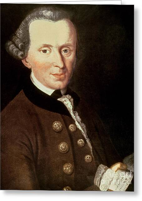 Fame Greeting Cards - Portrait of Emmanuel Kant Greeting Card by German School