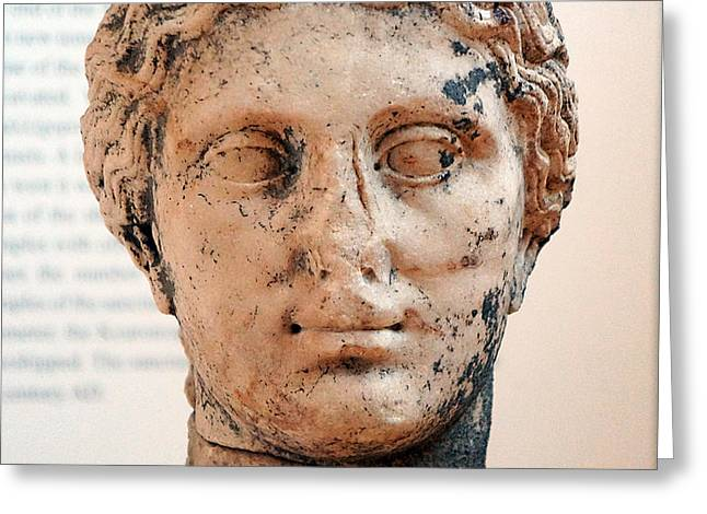 Greek Sculpture Greeting Cards - Portrait Of Man Greeting Card by Andonis Katanos
