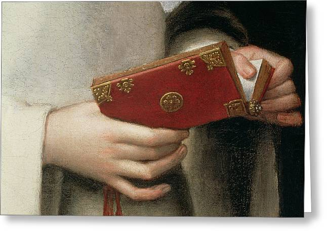 Hand Holding Greeting Cards - Portrait Of The Artists Sister Greeting Card by Sofonisba Anguissola