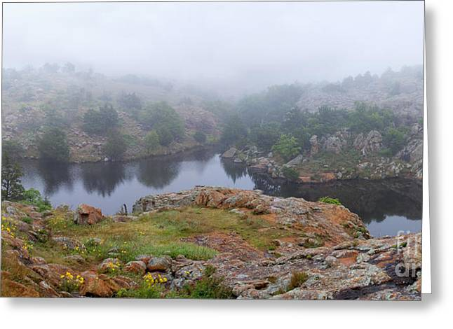 Wildlife Imagery Greeting Cards - Post Oak Lake, Oklahoma Greeting Card by Gregory G. Dimijian