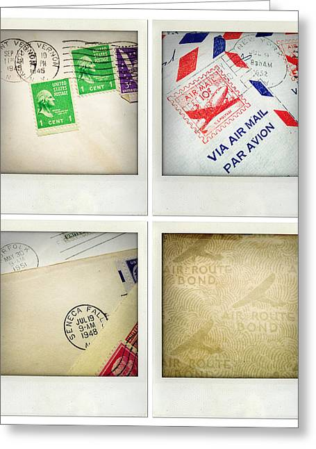 Postmarks Greeting Cards - Postal still life Greeting Card by Les Cunliffe