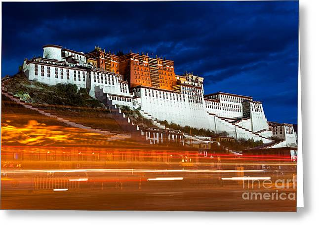 Tibetan Buddhism Greeting Cards - Potala Palace Greeting Card by Kim Pin Tan