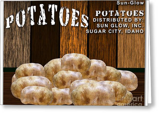 Kitchen Greeting Cards - Potato Farm Greeting Card by Marvin Blaine