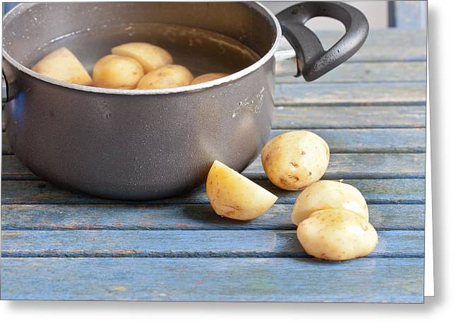 Boiling Greeting Cards - Potatoes Greeting Card by Tom Gowanlock