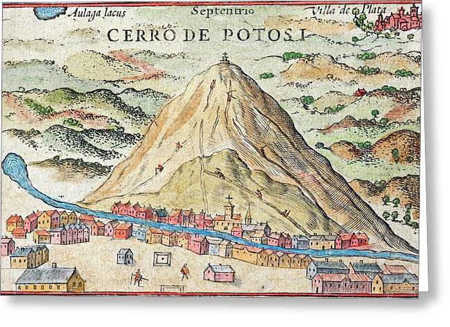 Potosi Silver Mine Greeting Card by Paul D Stewart