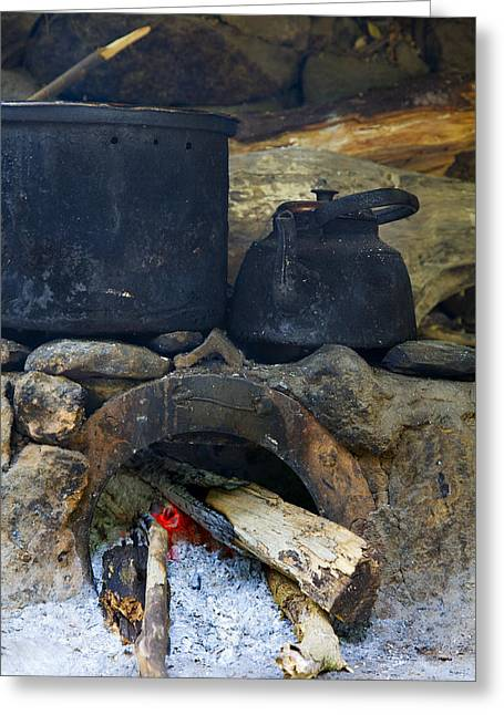 Soot Greeting Cards - Pots on the stove Greeting Card by Alexey Stiop