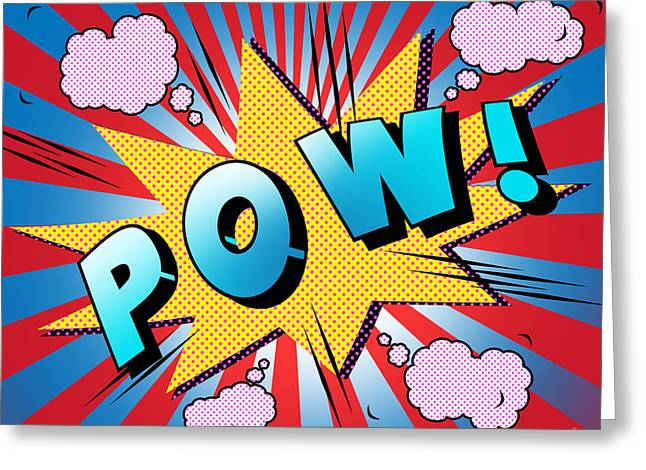 Pow Greeting Cards - Pow Greeting Card by Mark Ashkenazi
