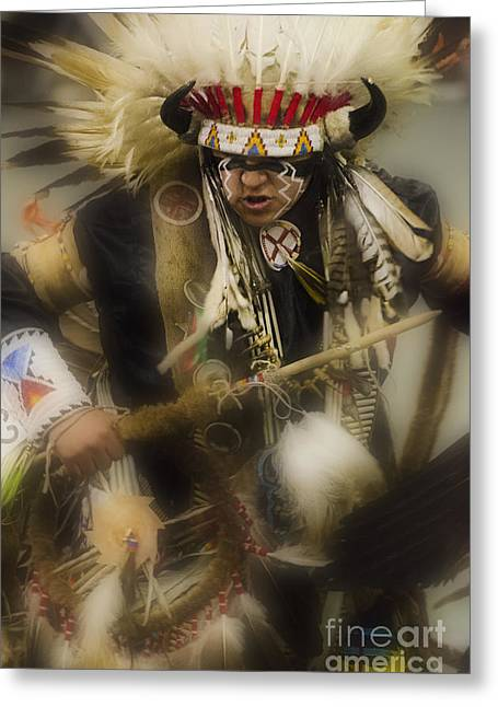 Fancy-dancer Greeting Cards - Pow Wow First Nations 21 Greeting Card by Bob Christopher