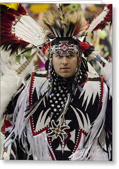 Fancy-dancer Greeting Cards - Pow Wow First Nations 9 Greeting Card by Bob Christopher