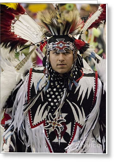 Pow Wow First Nations 9 Greeting Card by Bob Christopher