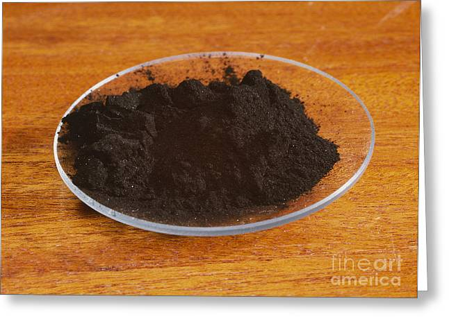 Black Carbon Greeting Cards - Powdered Charcoal Greeting Card by Andrew Lambert Photography