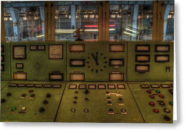 Power Plants Greeting Cards - Power clock Greeting Card by Nathan Wright