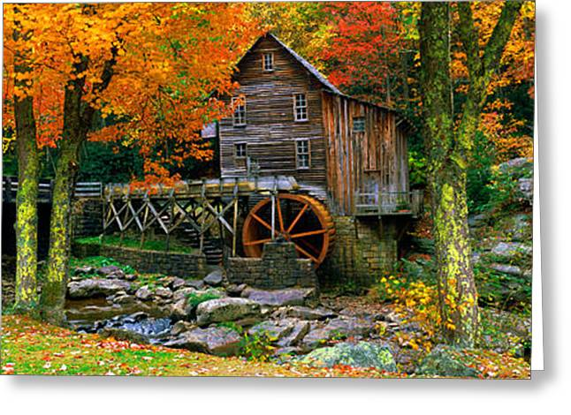 Glade Creek Greeting Cards - Power Station In A Forest, Glade Creek Greeting Card by Panoramic Images