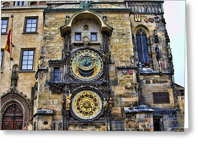 Tourist Site Greeting Cards - Prague - Astronomical Clock Greeting Card by Jon Berghoff