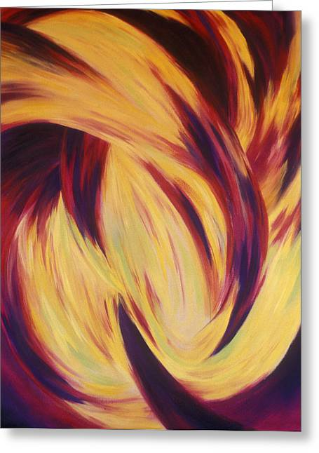 Synesthesia Greeting Cards - Pranava Greeting Card by Elaine Oehmich