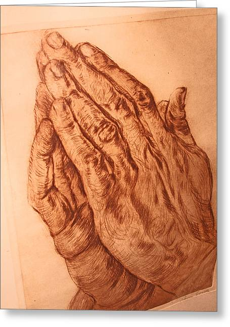Praying Hands Greeting Cards - Praying Hands Greeting Card by Henry Goode