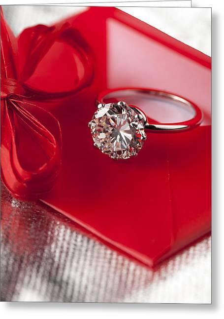 Valuable Greeting Cards - Precious Diamond Greeting Card by Stefania Levi