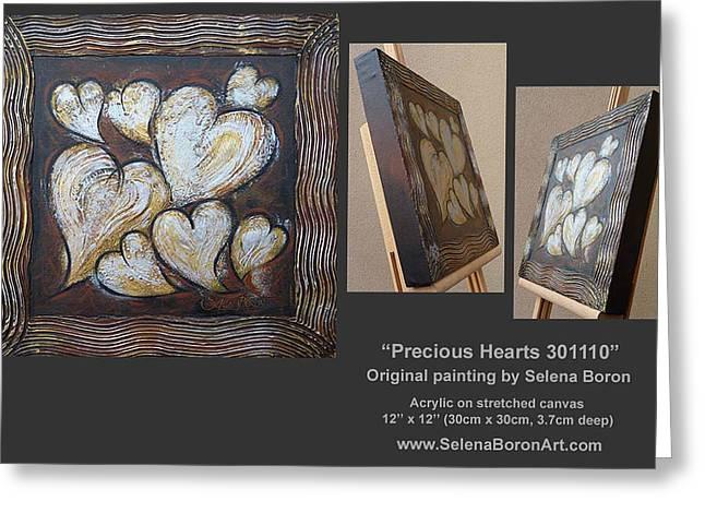 Australian Gold Coast Artist Greeting Cards - Precious Hearts 301110 Greeting Card by Selena Boron