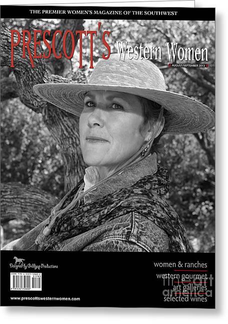 Prescott Digital Greeting Cards - Prescotts Western Women Greeting Card by Sandra Selle Rodriguez