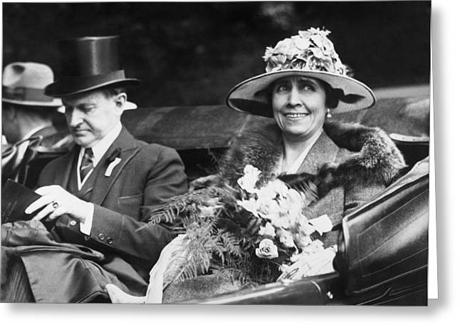 Republican Greeting Cards - President and Mrs. Coolidge Greeting Card by Underwood Archives