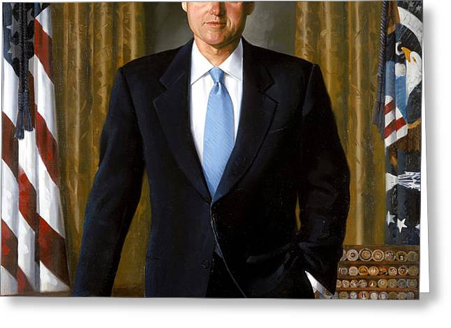 President Bill Clinton Greeting Card by War Is Hell Store