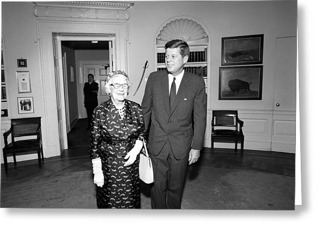 President John F. Kennedy Greeting Card by National Archives
