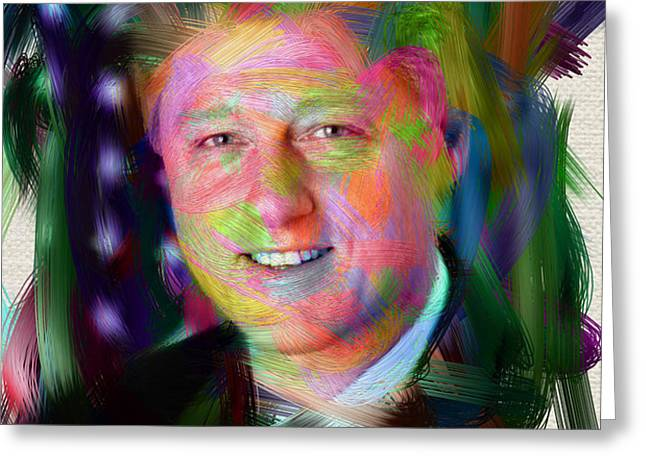President William J. Clinton Greeting Card by Official White House Photograph