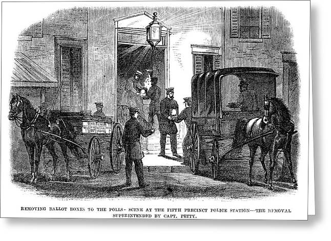 Presidential Election, 1864 Greeting Card by Granger