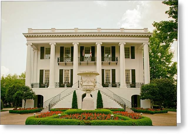 University Of Alabama Greeting Cards - Presidents Mansion - University of Alabama Greeting Card by Mountain Dreams