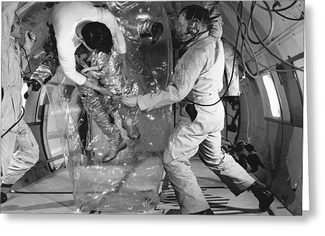Weightless Greeting Cards - Pressurization Test Apollo Program Greeting Card by NASA Science Source
