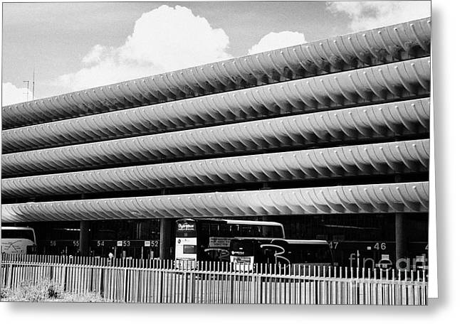 Brutalist Greeting Cards - Preston bus station England UK Greeting Card by Joe Fox