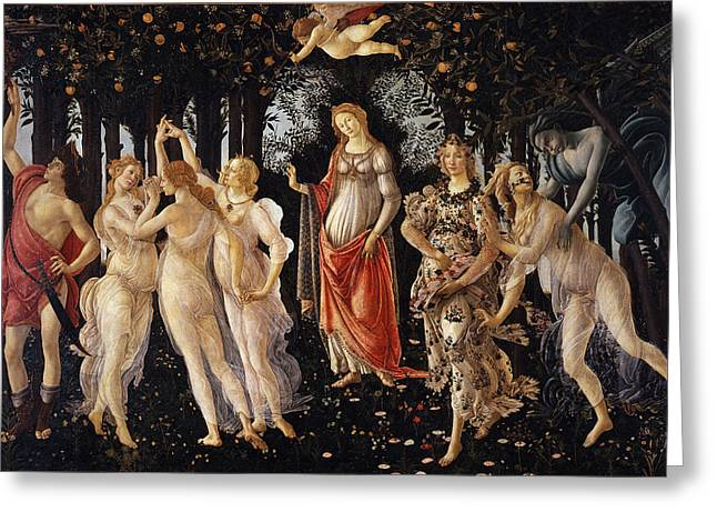 15th Greeting Cards - Primavera Greeting Card by Sandro Botticelli