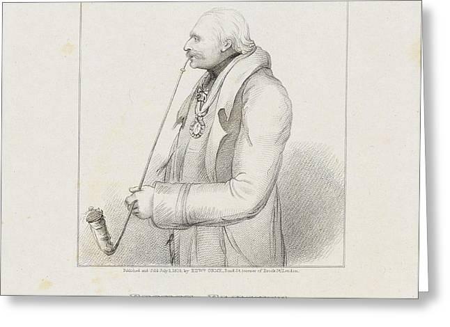 Prince Blucher Greeting Card by Samuel Freeman