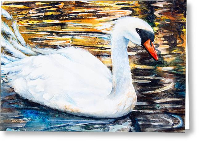 Watercolor Fairytale Greeting Cards - Prince of Swans Greeting Card by Patricia Allingham Carlson