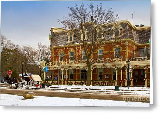 Niagara Carriage Greeting Cards - Prince of Wales Hotel in Niagara On The Lake Greeting Card by Les Palenik