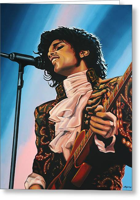 Soul Musicians Greeting Cards - Prince Greeting Card by Paul  Meijering
