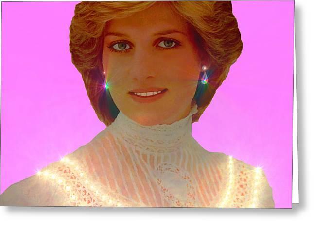 Princess Diana Greeting Card by Michael Rucker