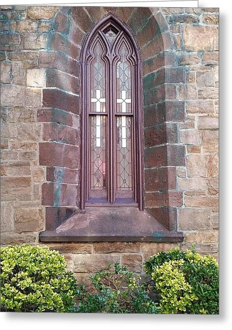 Streetview Greeting Cards - Princeton Double Cross Worship Greeting Card by Mark Victors