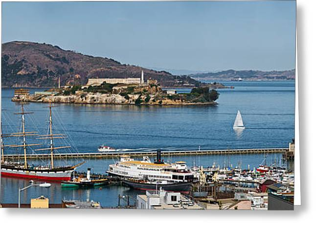 Prison On An Island, Alcatraz Island Greeting Card by Panoramic Images