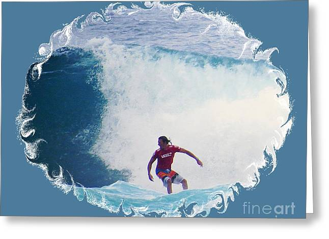 Surfing Photos Greeting Cards - Pro Surfer Cory Lopez Greeting Card by Scott Cameron