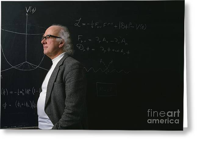 Cern Greeting Cards - Prof. Peter Higgs Greeting Card by David Parker