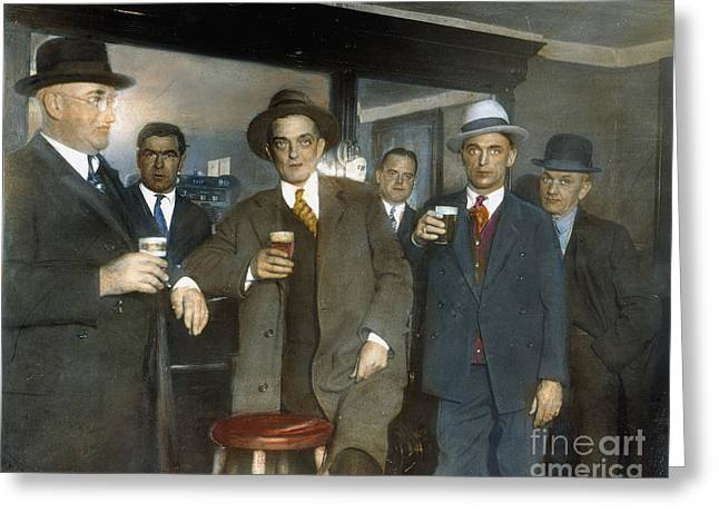 Bootleg Greeting Cards - Prohibition: Speakeasy Greeting Card by Granger