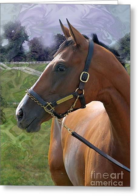 Keeneland Digital Greeting Cards - Prominence 4 Greeting Card by Bruce LaDuke