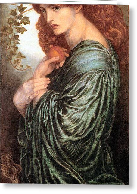 Rossetti Greeting Cards - Proserpine Greeting Card by Gabriel Rossetti