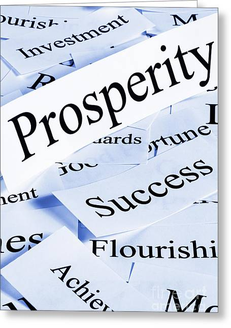 Concept Photographs Greeting Cards - Prosperity Concept Greeting Card by Colin and Linda McKie
