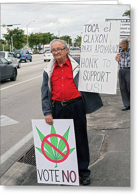 Protest Against Legalising Cannabis Greeting Card by Jim West