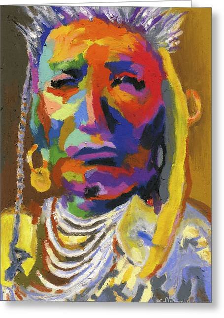 Proud Native American II Greeting Card by Stephen Anderson